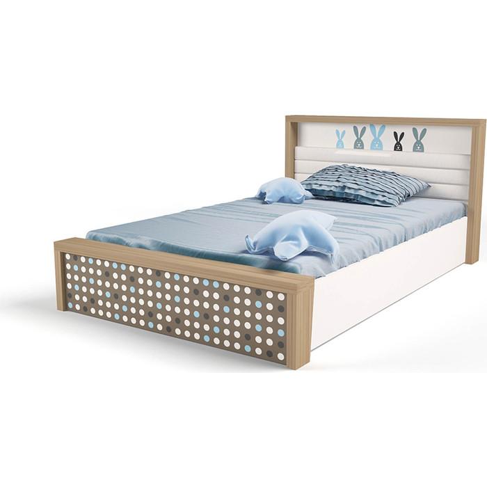 Кровать ABC-KING Mix bunny №5 подъемный механизм голубой 190x120