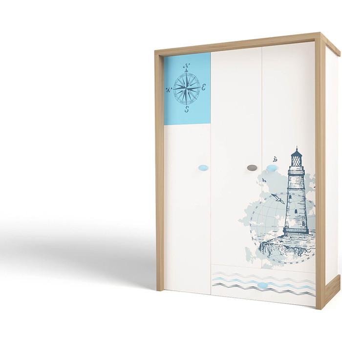 Шкаф ABC-KING Mix ocean голубой 3-х дверный