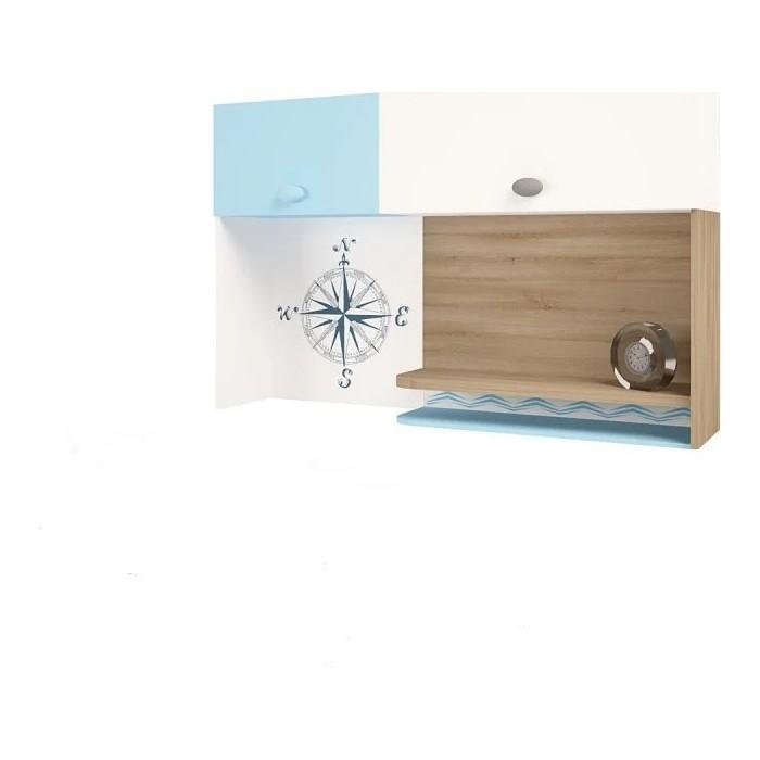 Фото - Надстройка на стол/навесная полка ABC-KING Mix ocean голубой левый abc king шкаф гармошка угловой abc king mix ocean голубой левосторонний