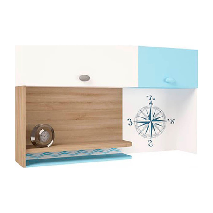Фото - Надстройка на стол/навесная полка ABC-KING Mix ocean голубой правый abc king шкаф гармошка угловой abc king mix ocean голубой левосторонний