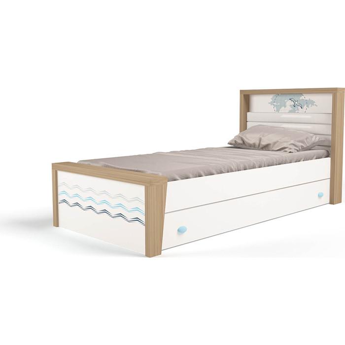 Кровать ABC-KING Mix ocean №3 голубой 160x90