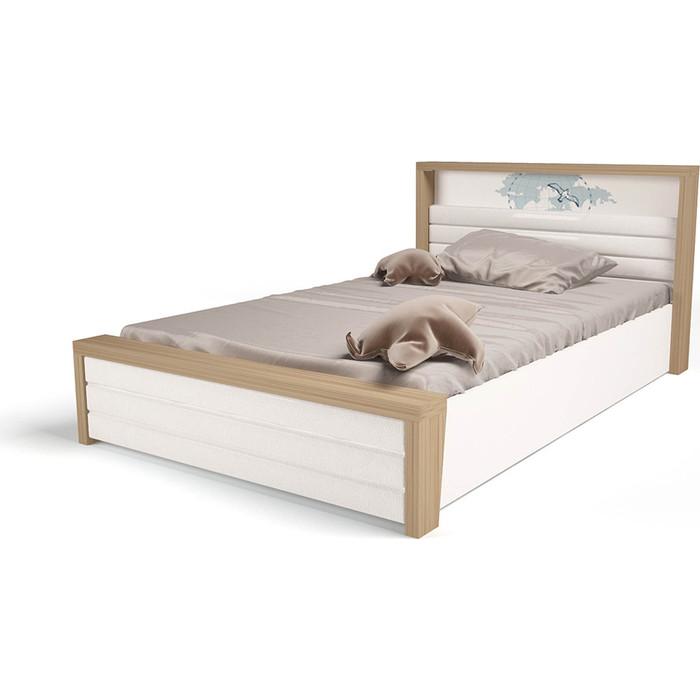 Кровать ABC-KING Mix ocean №6 подъемный механизм/мягкое изножье голубой 190x90