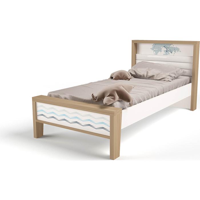 Кровать ABC-KING Mix ocean №1 голубой 190x120 abc king кровать abc king mix ocean 6 с подъемным механизмом и мягким изножьем голубой 190 90