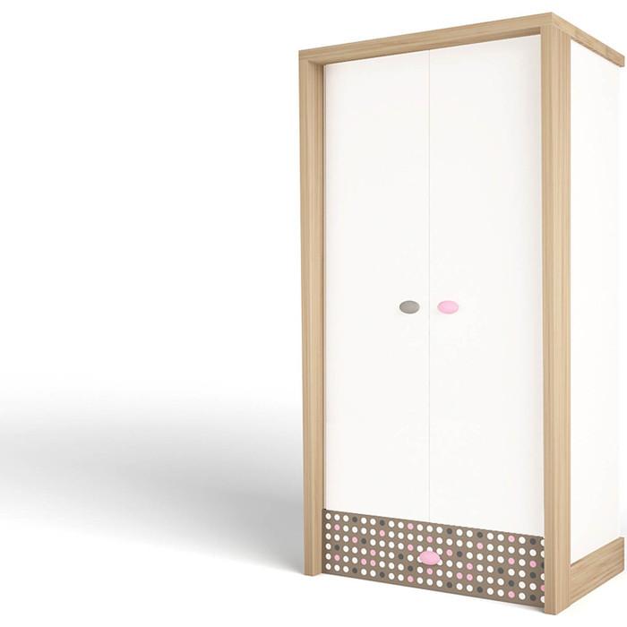 Шкаф ABC-KING Mix розовый 2-х дверный