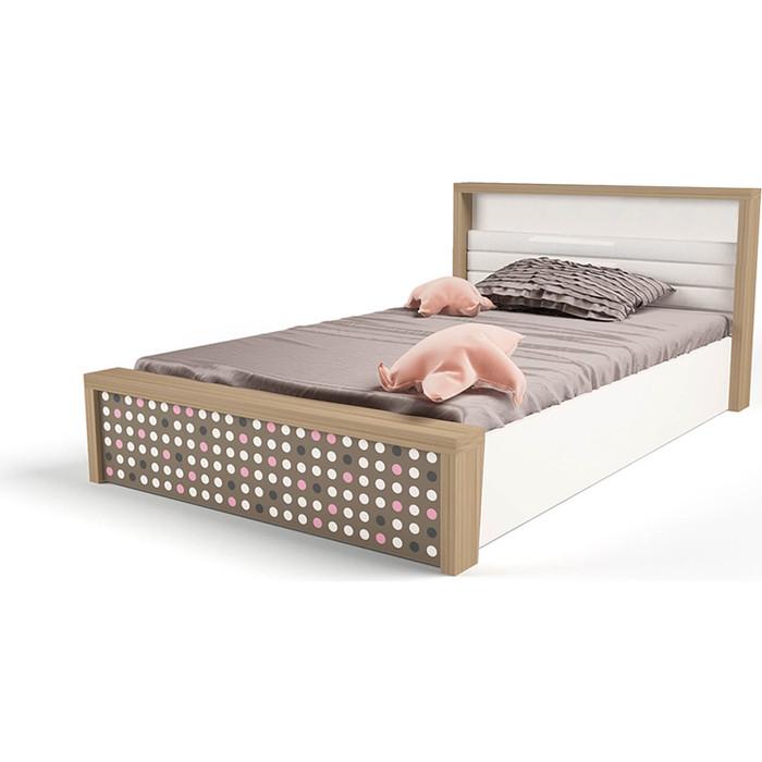 Кровать ABC-KING Mix №5 подъемный механизм розовый 190x120