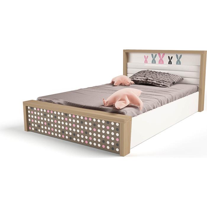 Кровать ABC-KING Mix bunny №5 подъемный механизм розовый 160x90