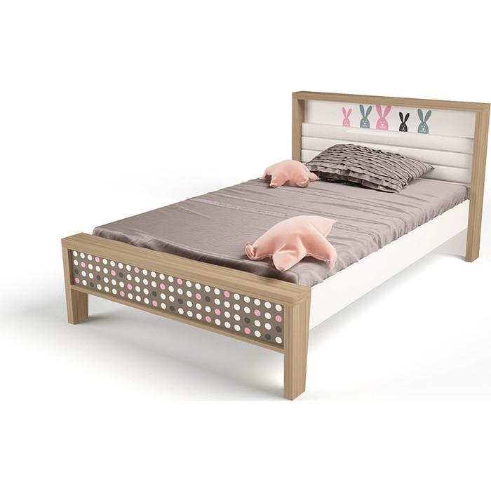 Кровать ABC-KING Mix bunny №1 розовый 190x120