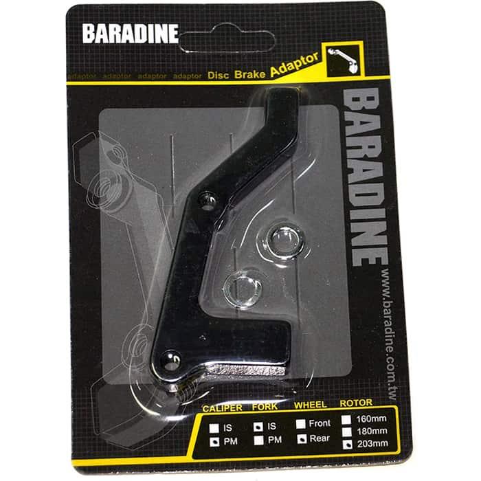 Адаптер тормозного диска BARADINE PM-IS-R203 Postmount задний 203мм, черный