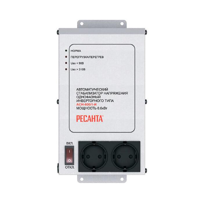 Стабилизатор напряжения инверторный Ресанта АСН-600/1-И