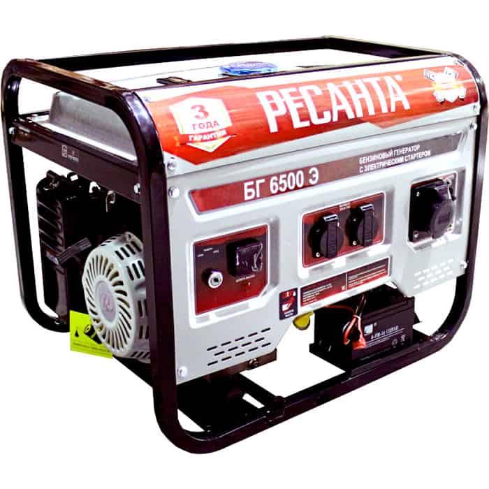Генератор бензиновый Ресанта БГ 6500 Э