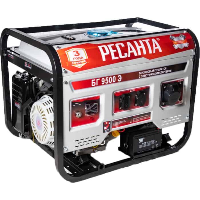 Генератор бензиновый Ресанта БГ 9500 Э