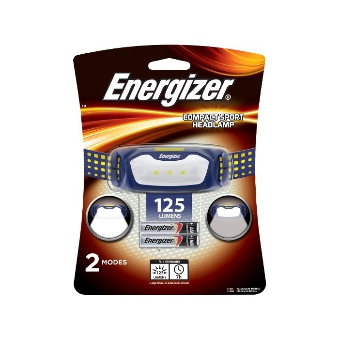 Фонарь налобный ENERGIZER ENR LED Headlight 2AAA tray (HD2L33A)