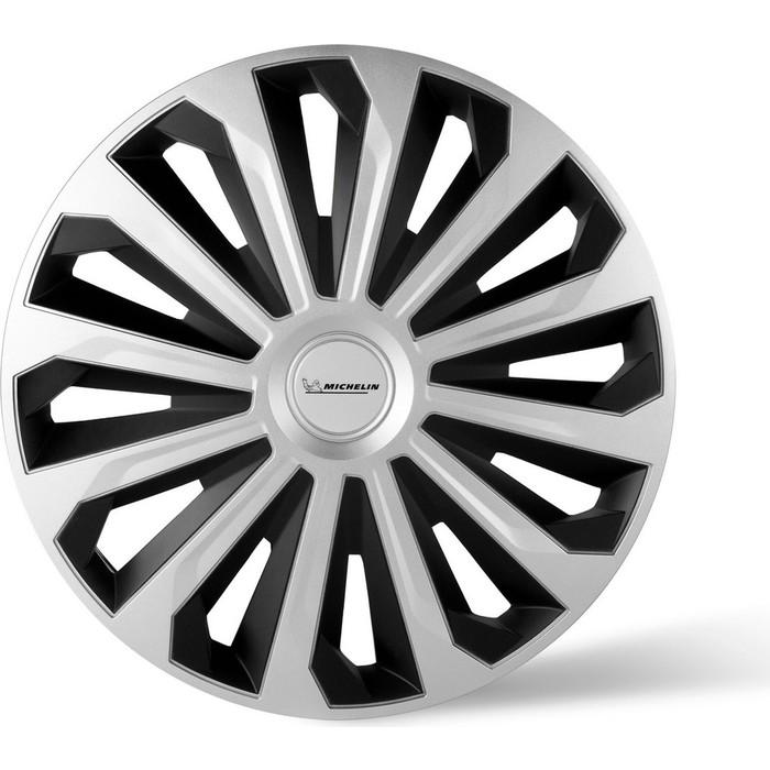 Колпаки колесные MICHELIN 16, Космо, серебристо-черный, 4 шт.