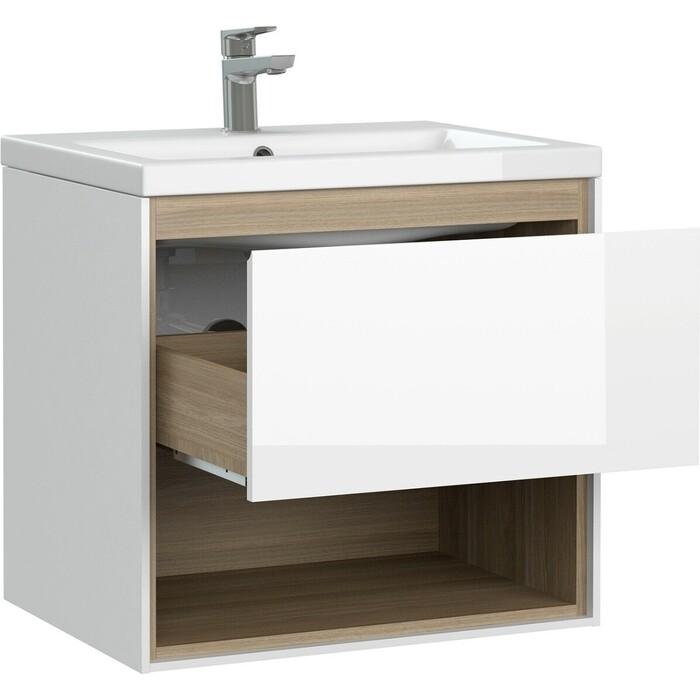 Мебель для ванной Cersanit Louna 60 один ящик, полка, белая