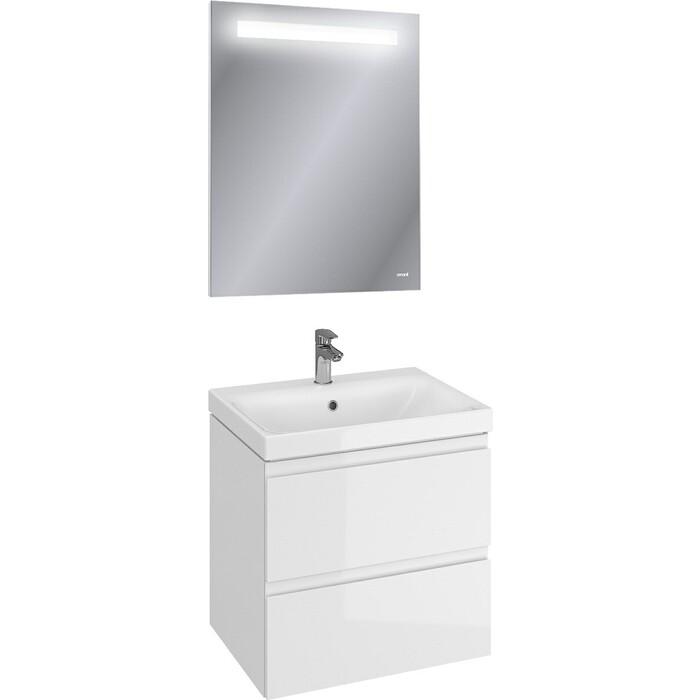 Мебель для ванной Cersanit Moduo 60 два ящика, белая