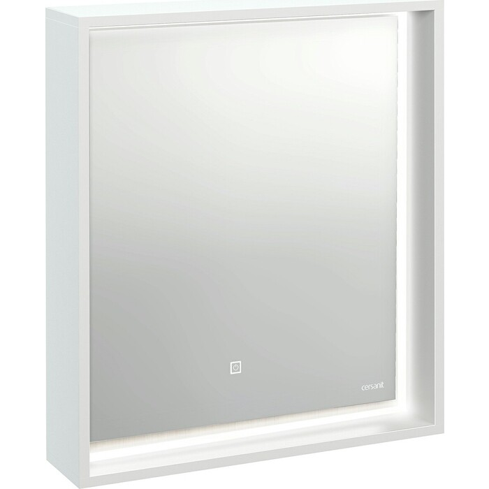 Зеркало Cersanit Louna 60 белый с подсветкой (SP-LU-LOU60-Os)