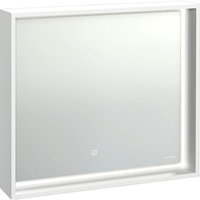 Зеркало Cersanit Louna 80 белый с подсветкой (SP-LU-LOU80-Os)