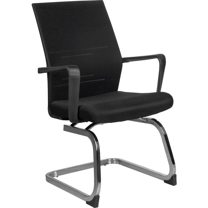 Кресло Riva Chair RCH G818 черная сетка на полозьях (крутящееся)