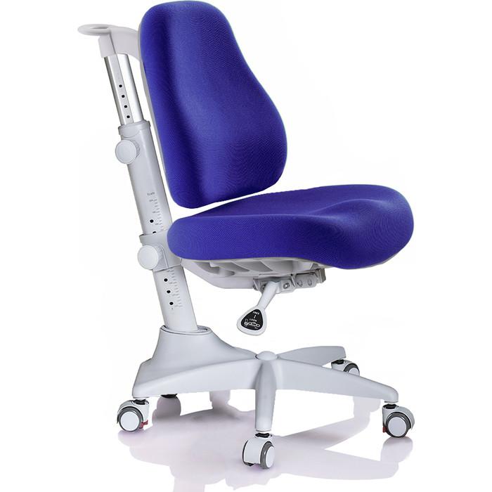 Кресло Mealux Match Y-528 SB/grey base основание серое/обивка синяя однотонная