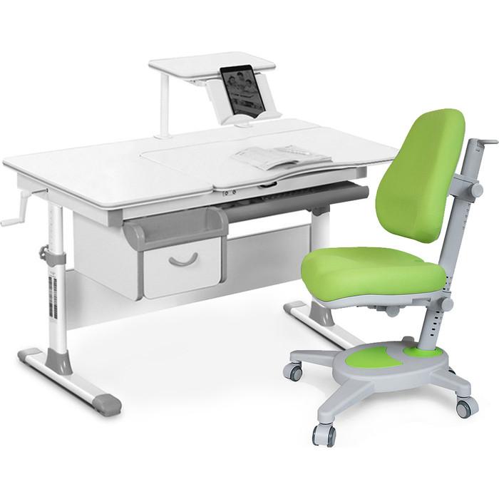 Комплект мебели (стол+полка+кресло+чехол) Mealux Evo-40 G (Evo-40 + Y-110 KZ) белая столешница/серый
