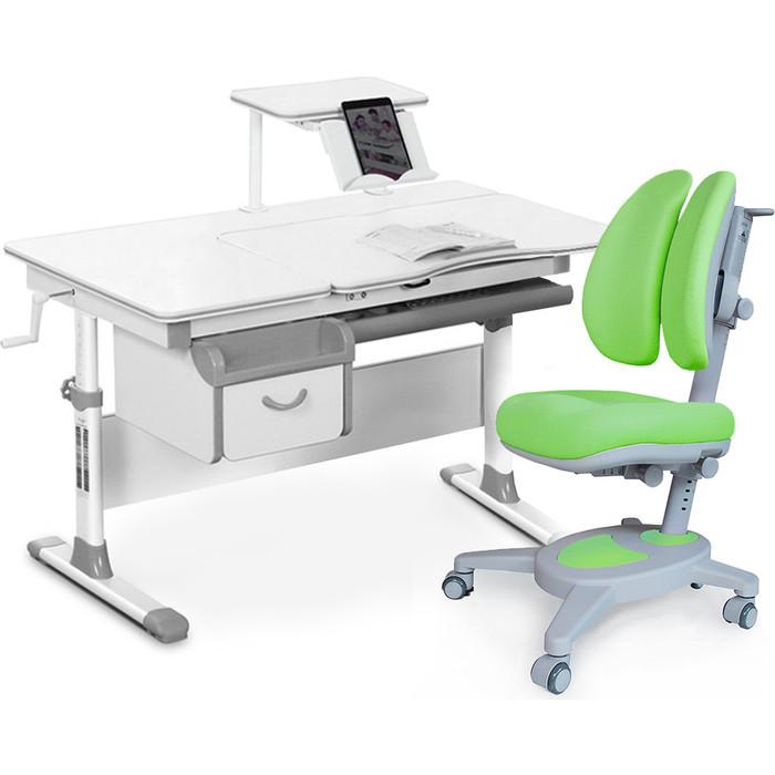 Комплект мебели (стол+полка+кресло+чехол Mealux Evo-40 G (Evo-40 + Y-115 KZ) белая столешница/серый