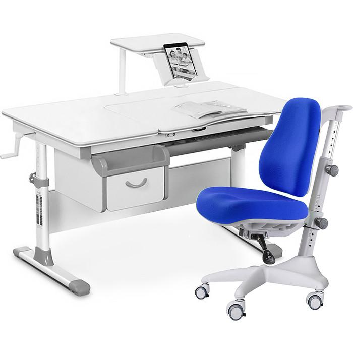 Комплект мебели (стол+полка+кресло+чехол) Mealux Evo-40 G (Evo-40 + Y-528 SB) белая столешница/серый
