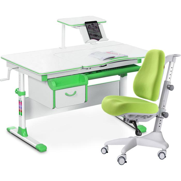 Комплект мебели (стол+полка+кресло+чехол) Mealux Evo-40 Z (Evo-40 + Y-528 KZ) белая столешница/зеленый
