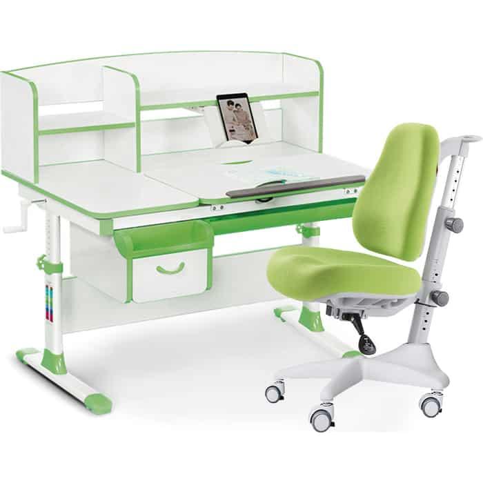 Комплект мебели (стол+полка+кресло+чехол) Mealux Evo-50 Z (Evo-50 + Y-528 KZ) белая столешница/зеленый