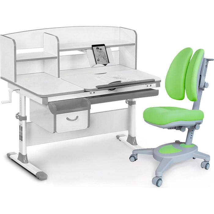 Комплект мебели (стол+полка+кресло+чехол) Mealux Evo-50 G (Evo-50 + Y-115 KZ) белая столешница/серый