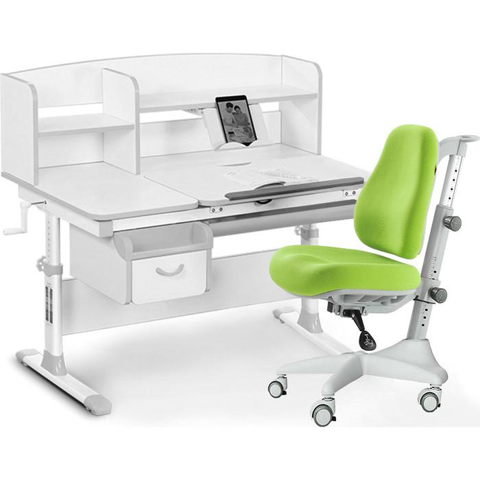 Комплект мебели (стол+полка+кресло+чехол) Mealux Evo-50 G (Evo-50 + Y-528 KZ) белая столешница/серый