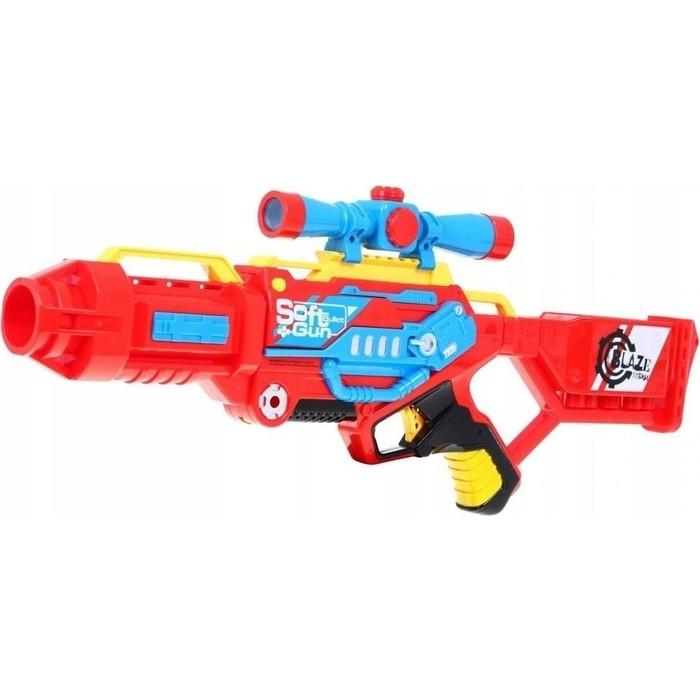 Автомат Zecong Toys BlazeStorm с мягкими пулями (тройной выстрел) - 7068