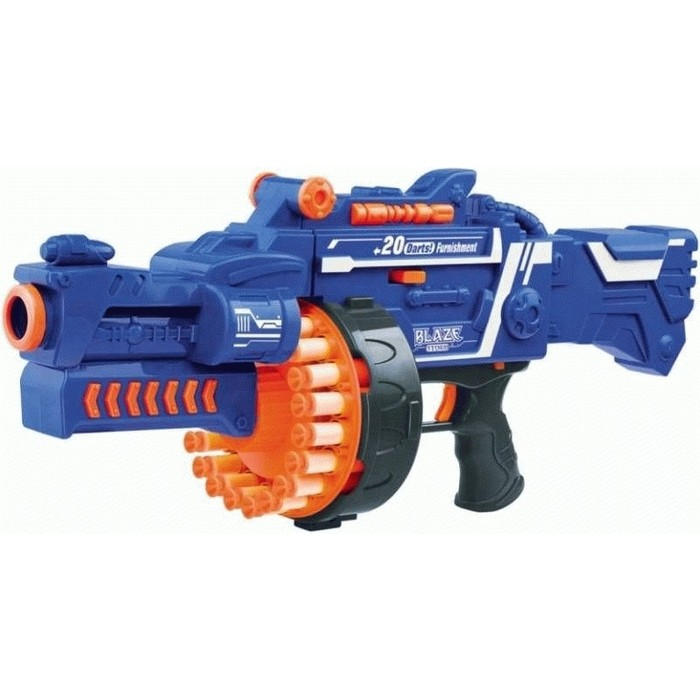 Автомат Zecong Toys BlazeStorm с мягкими пулями на батарейках - 7050
