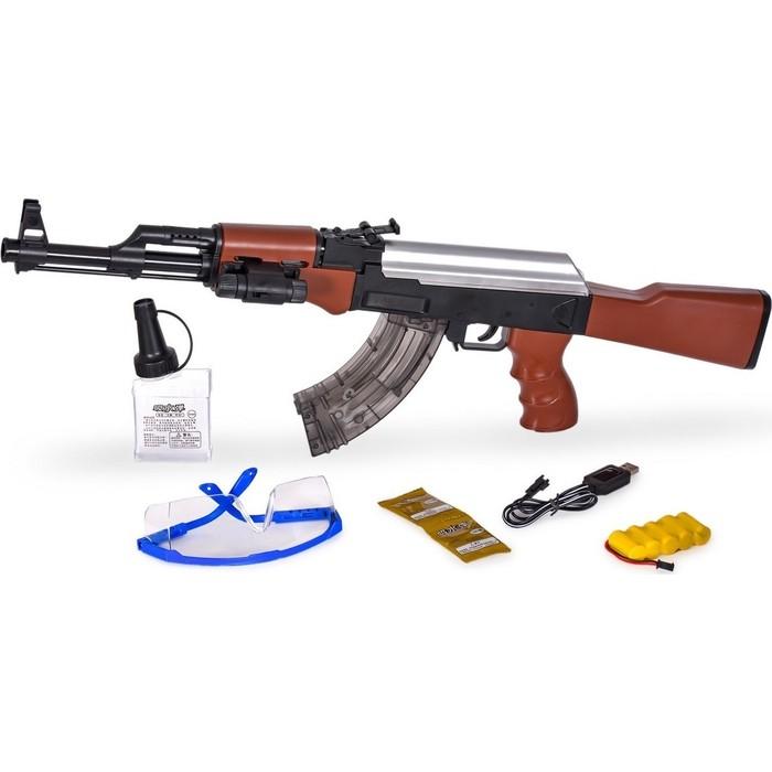 Автомат CS Toys AK-47 с гелевыми пулями на аккумуляторе (2 режима стрельбы + лазер) - A47N