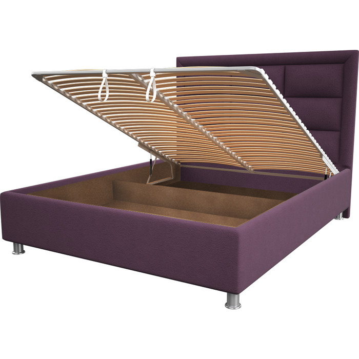 Кровать OrthoSleep Виктория violet механизм и ящик 180x200