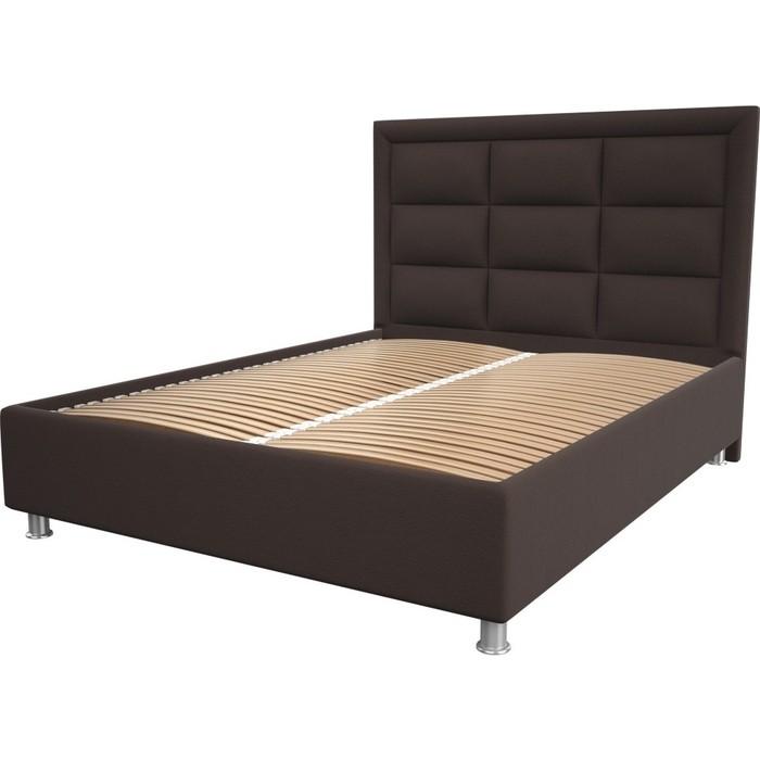 Кровать OrthoSleep Виктория chocolate ортопед. основание 200x200