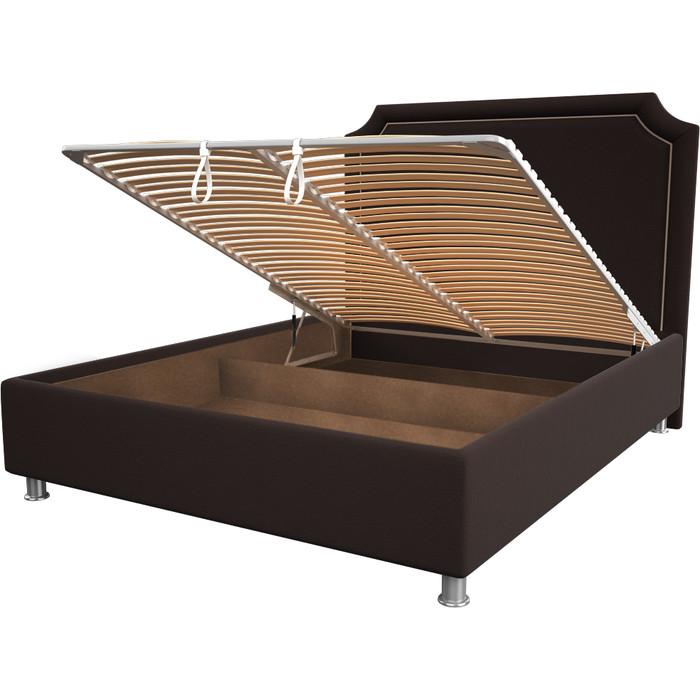 Кровать OrthoSleep Федерика chocolate механизм и ящик 120x200