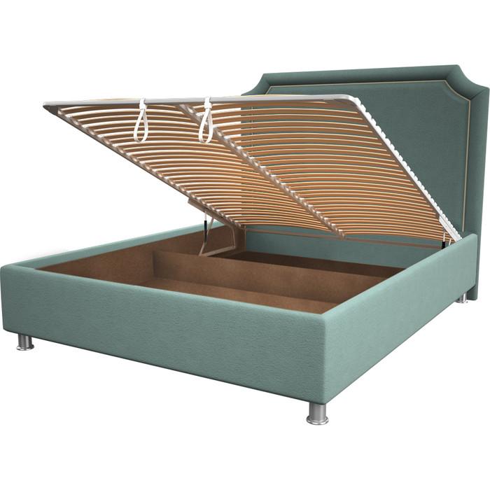 Кровать OrthoSleep Федерика aqumarine механизм и ящик 140x200