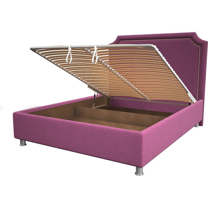 Кровать OrthoSleep Федерика pink механизм и ящик 180x200