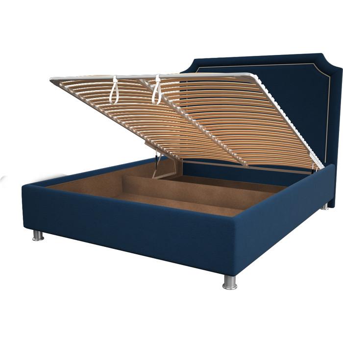 Кровать OrthoSleep Федерика blue механизм и ящик 200x200