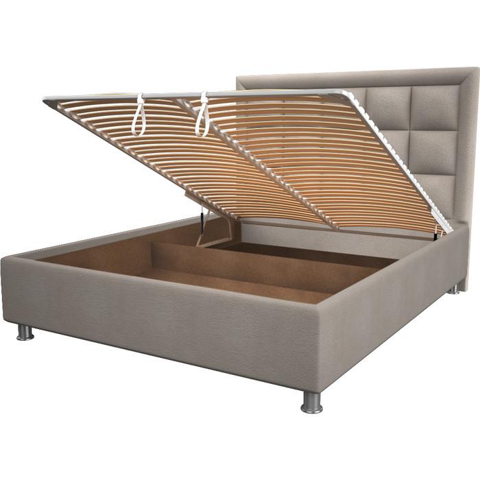Кровать OrthoSleep Альба camel механизм и ящик 80x200