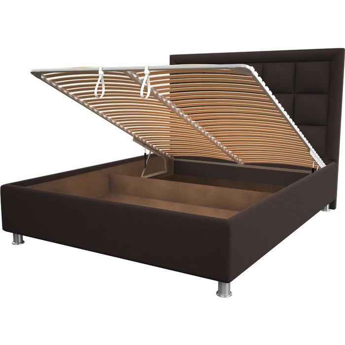 Кровать OrthoSleep Альба chocolate механизм и ящик 80x200