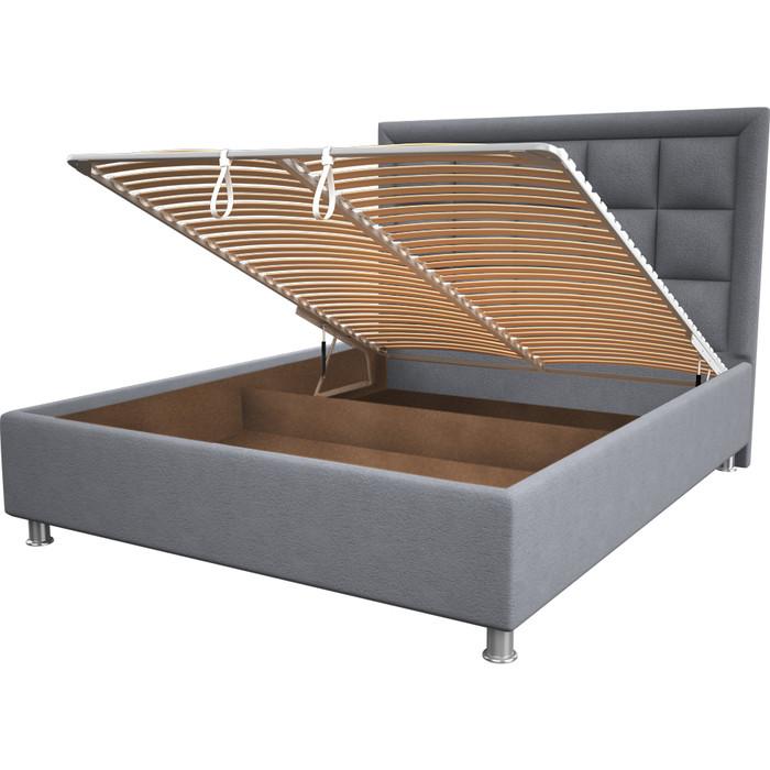 Кровать OrthoSleep Альба silver механизм и ящик 160x200