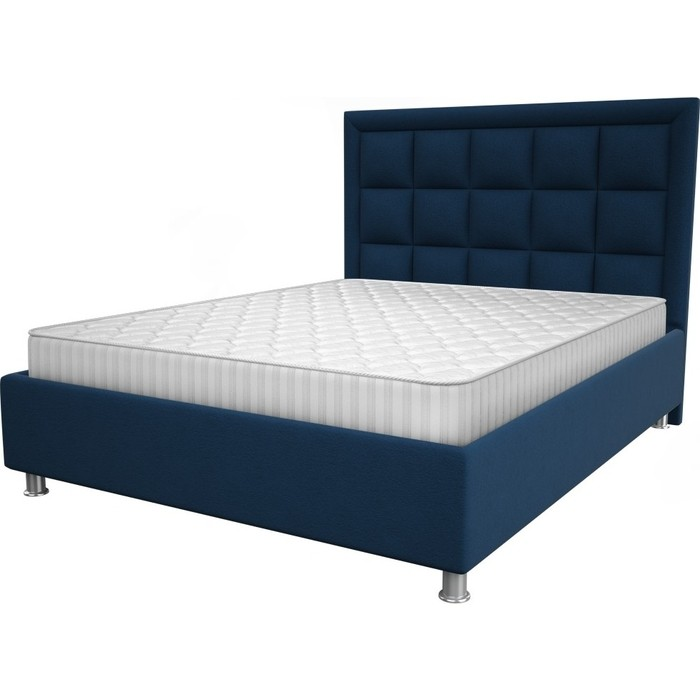 Кровать OrthoSleep Альба blue жесткое основание 200x200