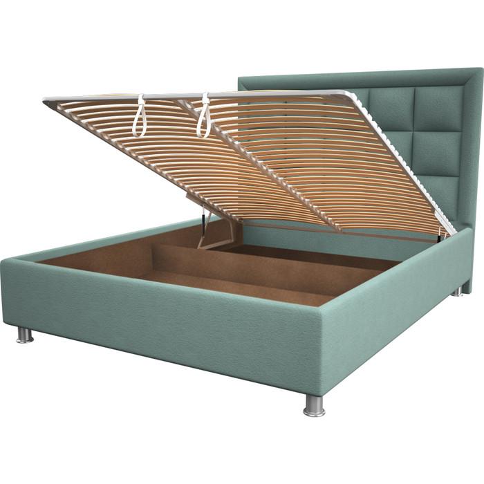 Кровать OrthoSleep Альба aqumarine механизм и ящик 200x200