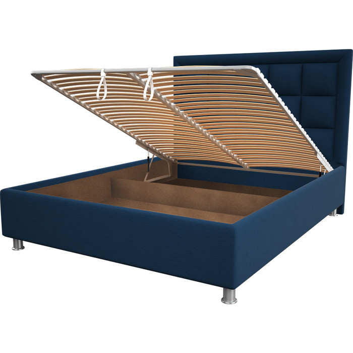 Кровать OrthoSleep Альба blue механизм и ящик 200x200