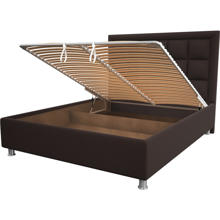 Кровать OrthoSleep Альба chocolate механизм и ящик 200x200