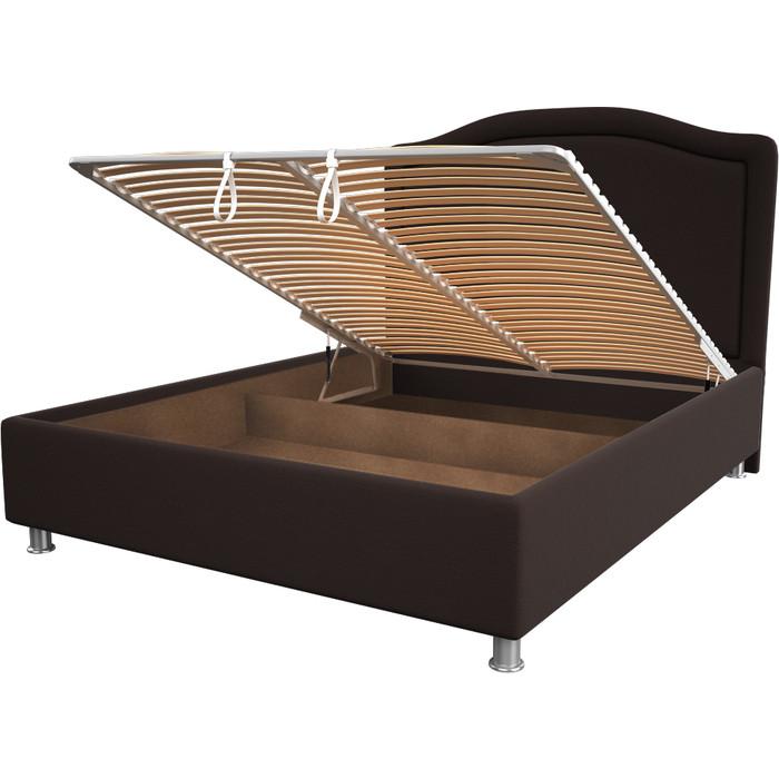 Кровать OrthoSleep Калифорния chocolate механизм и ящик 90x200