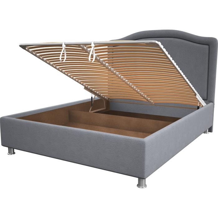 Кровать OrthoSleep Калифорния silver механизм и ящик 140x200 кровать orthosleep калифорния camel механизм и ящик 140x200