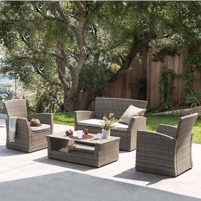 Комплект мебели с диваном Afina garden AFM-405G brown комплект мебели афина t 282 bnt y 137 c w 56 light brown 2pcs