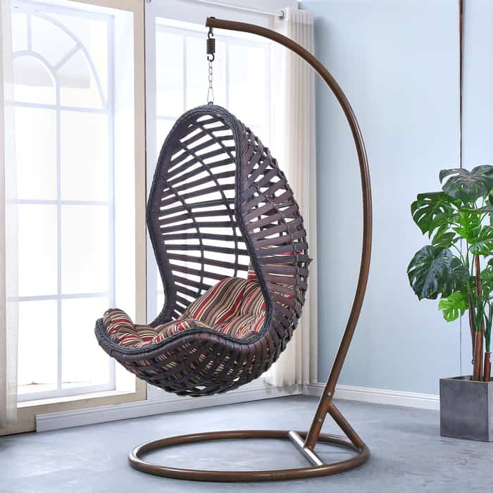 Подвесное кресло Afina garden AFM-810A brown подвесное кресло afina garden afm 168a xl white green